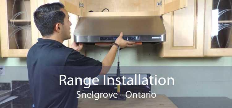 Range Installation Snelgrove - Ontario