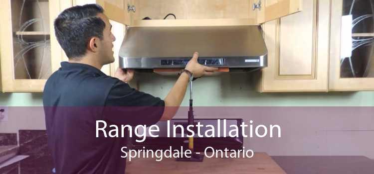 Range Installation Springdale - Ontario